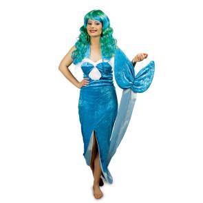 Nixen und Meerjungfrau Kostüm blau