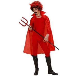 Mann mit Perücke und rotem Umhang 100cm