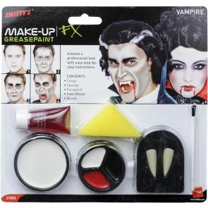 Vampir Make-up Set zum schminken mit Zähnen