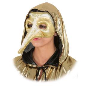 Maske Venezia Pantalone mit Schnabel in gold