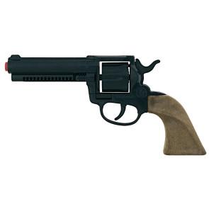 Western Revolver in schwarz Spielzeugwaffe metall Colt