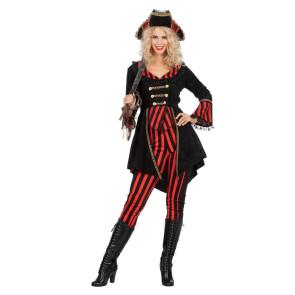 Piratin Totenkopf rot schwarz