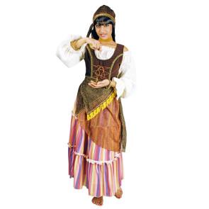 Kostüm Zigeunerin in braun pastell front