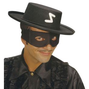 Zorro Maske zum binden aus Stoff hochwertig