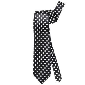 Krawatte schwarz weiß gepunktet günstig