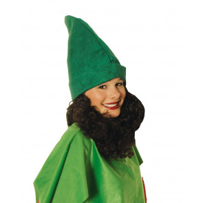 Zwergenmütze grün & Bart