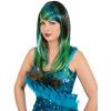 Pfauen Lady, schwarz-blau-grün