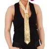Pailletten Krawatte gold