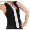 Pailletten-Krawatte silber