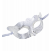 Silberne Augenmaske