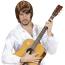 Bild mit Gitarre imitiert abba Sänger
