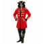 Captain Hook Piratenmantel in rot für Piratenkapitän