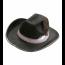 Western-und Cowboyhut in schwarz mit Feder und Hutband
