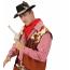 Cowboyhut Herren schwarz mit Feder