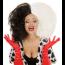 Frisur Stil wie 101 Dalmatiner Frau schwarz - weiss