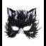 Katzenmaske schwarz weiss