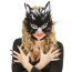 Maske Katze mit Federn