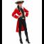 Piratenmantel Damen in rot für Piratinkostüm selbst gemacht