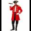 Piratenmantel für Herren in rot für selbstgemachte Kostüme
