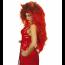 Teufels Perücke Lang mit Hörnern rot für Damen und Herren