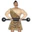 Kraftmensch Zirkus Jahrhundertwende mit Muskel Oberteil