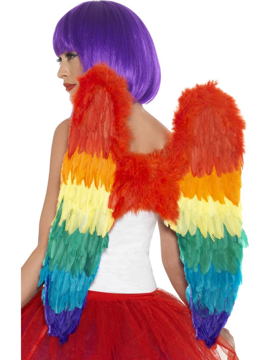 Federflügel Bunt In Regenbogen Farben 60cm X 60cm