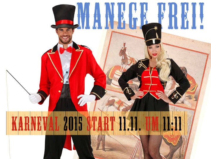 Collage Manege Frei für Karneval Start 2015