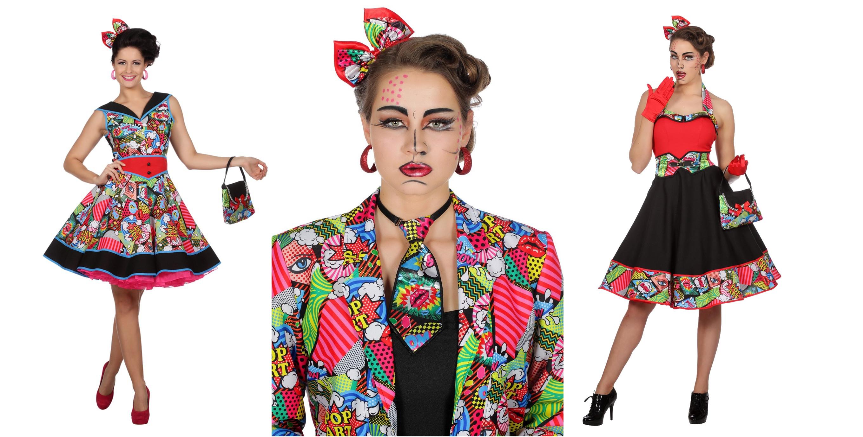 Pop Art Kostüm Motto 50er und 60er