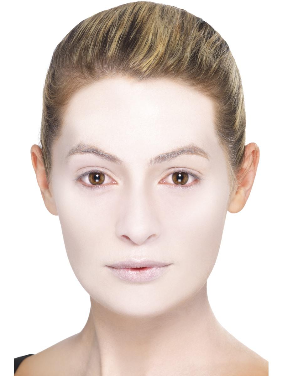 Frau Gesicht weiß geschminkt