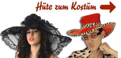 Banner mit Hüte für Fasnacht, Karneval und Fasching