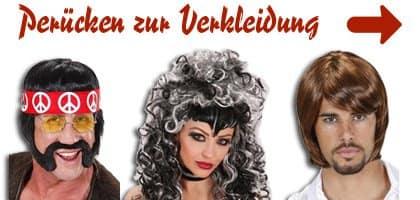 Banner mit Perücke zu Kostüm Ideen