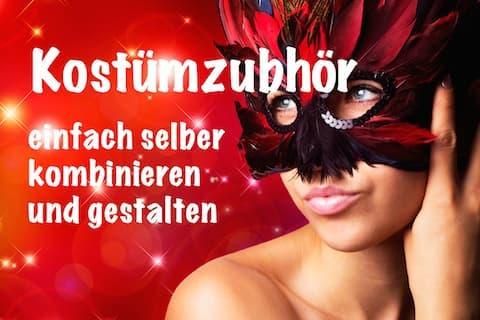 Banner Zubehör Karneval Accessoires Fasching